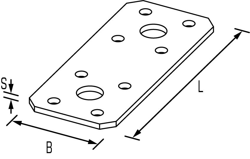 Flachverbinder Zeichnung