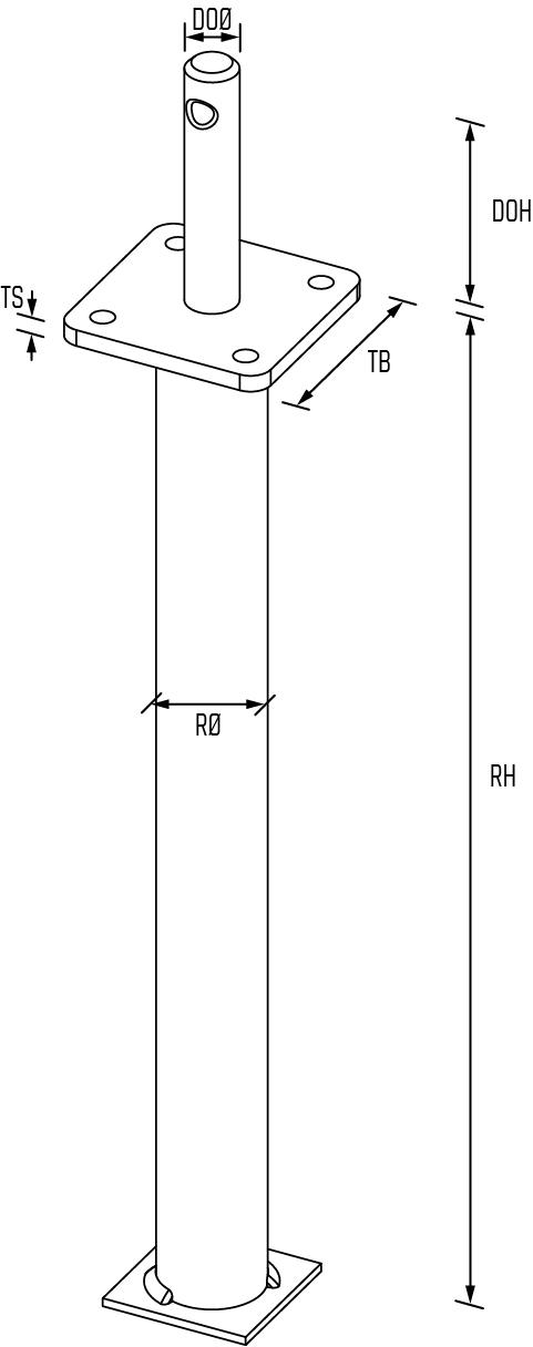 Pfostenträger Typ_DS_Zeichnung