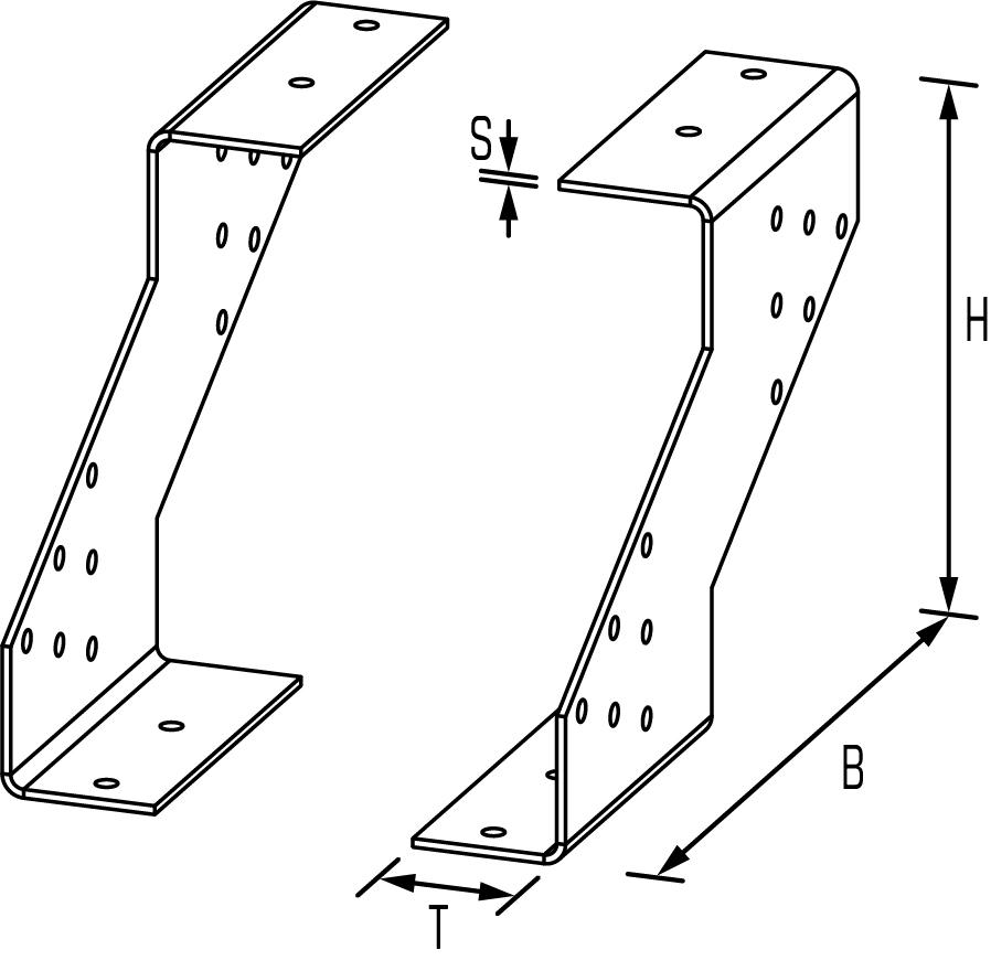 Gerberverbinder Typ 2Zeichnung